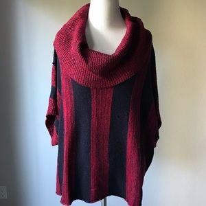 Splendid Cowl Neck Stripe Sweater